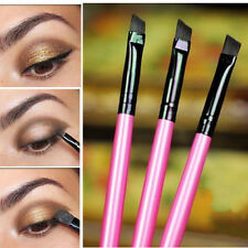 3Pc Cosmetic Brush Eyeliner Eyebrow Makeup Brushes Pocket Angled Beauty Set Tips
