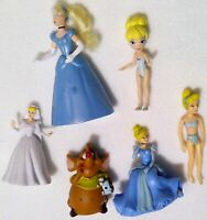 "Cinderella doll toy lot 6 mouse plastic Disney princess 4"" articulated mouse y17"
