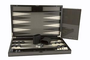 """Dal Rossi Carbon Fibre Finish Backgammon 18"""""""