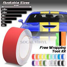 25FT/50FT Long Matte Color Racing Stripes Vinyl Wrap Rally Decals Stripe Sticker