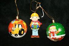 Bob The Builder Christmas Tree Ornaments /Tree Balls & Bob Builder Fig Vintage