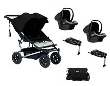 Poussette double Mountain Buggy Duet V3 BLACK - garantie 3 ans