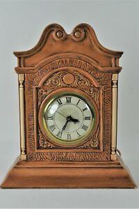 Vintage Ceramic Mantel Clock Holland Mold with Lanshire Self Starting Mechanism