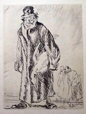Frank William Brangwyn RA RWS RBA (1867-1956) Etching Rabbi & Goose. 1931