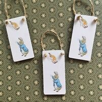 Peter Rabbit Handmade Wooden Hanging Christmas tree Decorations, Gift Tags