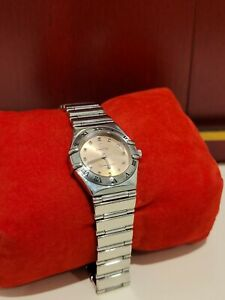 Omega My Choice Constellation 22.5m 1561.61 Full Set EX Condition - Salmon Dial