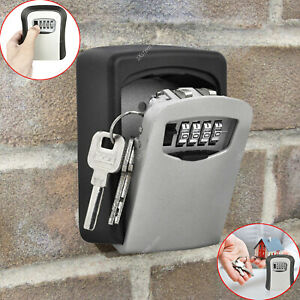 WALL MOUNTED KEY SAFE BOX SECURE LOCK 4 DIGIT CODE SECURITY OUTDOOR STORAGE UK