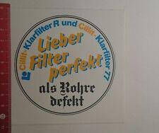 Aufkleber/Sticker: Cillit Klarfilter R und Cillit Klarfilter 77 (29111671)