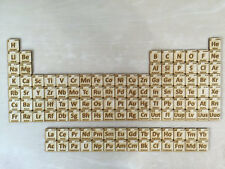 Laser Cut Wooden Periodic Table of Elements
