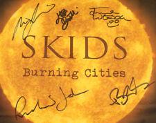 "Skids – Burning Cities 2018 UK Signed & Sealed YELLOW Vinyl LTD ED 12"" Punk LP"