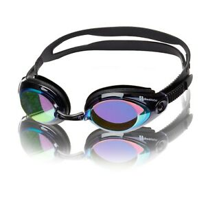 Swimming Goggles Anti-Fog Adjustable UV Protected Clear Mirrored Adult