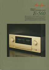 Accuphase e-560 catalogue prospectus catalogue Datasheet brochure