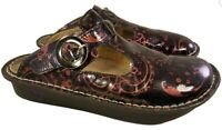 ALEGRIA PG LITE CLOGS SHOES MARY JANE PATENT LEATHER FLORAL PAYSLEY SIZE 40/10