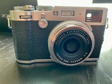 Fujifilm X100F 24.3 MP Digital Camera - Silver With Extra Battery and Filter