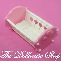 Fisher Price Loving Family Dream Dollhouse Pink Baby Girl Crib Cradle Nursery