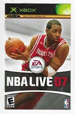 Xbox NBA Live 07 Manual ONLY Booklet