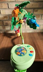 Fisher Price Baby cot Nursery Musical Mobile Jumgle Sounds Fully Working