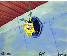 INVESTMENT GRADE !!!  Spongebob Prod CEL AND HP BACKGROUND #7023