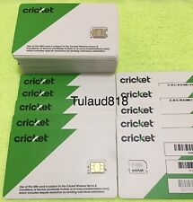 ( 4x ) 🔴 Cricket ___  Nano __ Sim Card  🔴 for NEW service -OR- REPLACEMENT 🔵