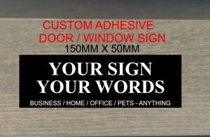 PERSONALISED OFFICE NAME PLATE ADHESIVE MANAGER STAFF HOME OFFICE BUSINESS