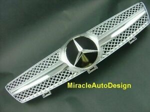 SILVER FRONT GRILL SET FOR 2005-2008 MERCEDES BENZ W219 CLS-CLASS (Sedan & Coupe