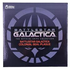 More details for battlestar galactica ship collection colonial seal hull plaque replica eaglemoss