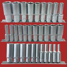 31 Piezas Llave de Tubo Inserciones Profundo Mate 4-24 mm Largo Juego Tuercas