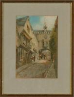 William Henry Sweet (1889-1943) - Framed 20th Century Watercolour, Street