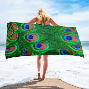 Peacock Feather Bath or Beach Towel