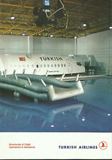 TURKISH AIRLINES PILOT CABIN CREW TRAINING SERVICES BROCHURE 1990s