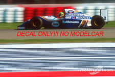 decal Williams FW16 Tobacco 1994 Senna Hill Coulthard Mansell 1/43 minichamps