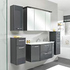 Pelipal Badezimmer Velo Komplettset in anthrazit Hochglanz inkl. LED-Beleuchtung