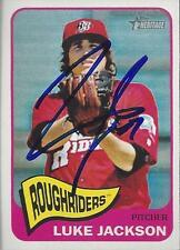 Luke Jackson Texas Rangers 2014 Topps Heritage Signed Card