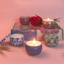 Scented Candles 6-Pack Vanilla Lavender Rose Orange Lemon Amber Musk