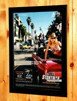 2001 Stuntman Beyond Driving Small Poster / Vintage Ad Page Framed PS2 GBA Atari