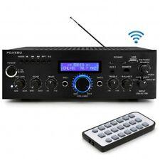 PDA5BU 200W Bluetooth Stereo Mini Amplifier w/ AM-FM USB Mic Aux In Blue LCD