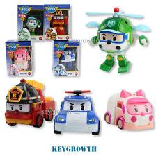 4pcs Robocar Poli Roy Amber Helly Transformer Car Transforming Robot Academy Toy