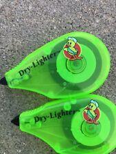 2 Pack Manco Erasable Dry lighter Green Bible Highlighter Non liquid