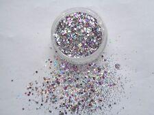 3g POT NSI PINK  PRE-MIXED GLITTER ACRYLIC POWDER - SWEETHEART MIX