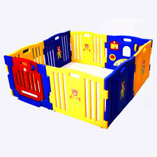 8 Panel Baby Kids Playpen, Safety Play Yard, Home Indoor Outdoor Gate Pen, New