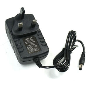 9V 2A AC/DC UK PLUG POWER SUPPLY ADAPTER 2000MA CHARGER MAINS LEAD