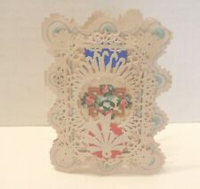 Antique Valentine-Paper cutout Lace. 2 layers. Cute saying. .