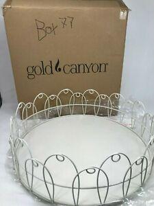 Gold Canyon Candle Scroll Tray Vintage Iron Pedestal Frame Lantern Choose Piece