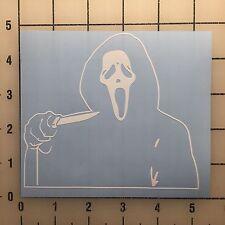 "Scream Ghostface Ghost Face 5"" Wide White Vinyl Decal Sticker Set - BOGO"