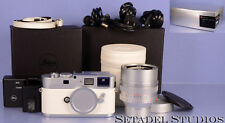 LEICA M9-P M9 P WHITE LIMITED xx/50 CAMERA +CHROME NOCTILUX-M 50MM F0.95 NEW!