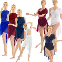 Women Adult Girls Ballet Dance Leotard Dress Gymnastics Bodysuit Dancewear Dress