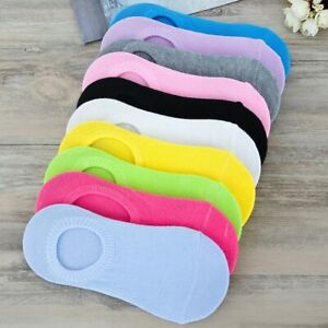 Womens Ankle No Show Boat Liner Invisible Solid Colors Cotton Socks 3-12 Pairs