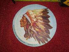 """Iroquois Beer 1940's Paper Emblem 4 1/4"""" Buffalo Ny Usa"""