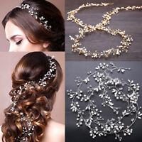 Jewelry Diamante Headband Pearl Crystal Bride Accessories Wedding Hair Vine