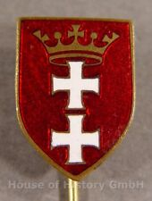 113520, Abzeichen der Stadt/Staat Danzig, mehrfarbig emailliertes Daniger Wappen
